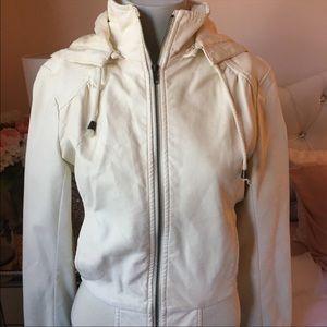 White Faux Leather Jacket F21 Size M